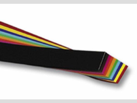 Flechtstreifen 5x60cm. 720 Streifen in 12 Farben sortiert