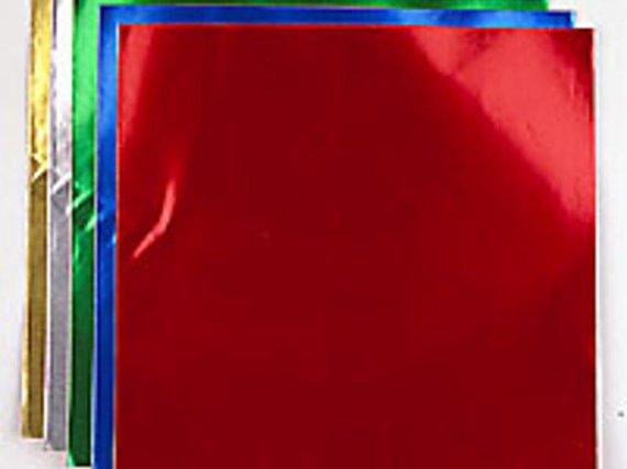 Goldfolie-Faltblätter 15x15 cm