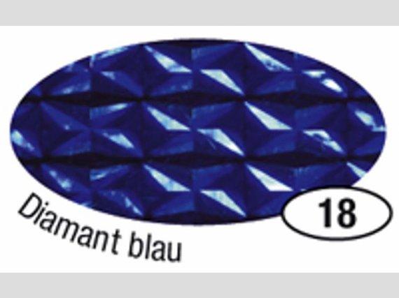 Holografische Folie Disco blau 5mx40cm.