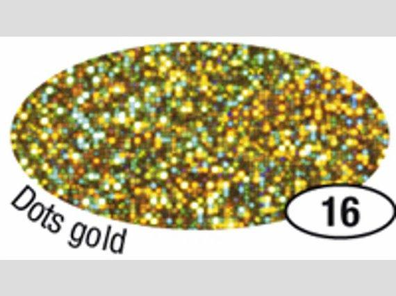 Holografische Folie Quadrate gold 5mx40cm.