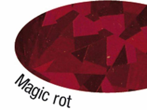 Holografische Folie Vielecke rot 5mx40cm.