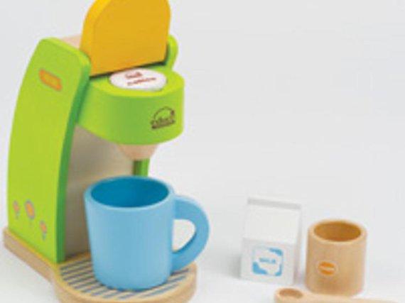 Kaffeemaschine Holz 6-tlg