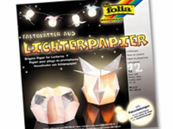 Lichterpapier: schwer entflammbare Faltblä