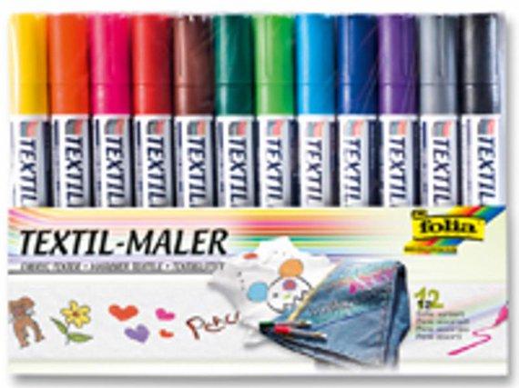 Textilstifte 12 Farben sortiert