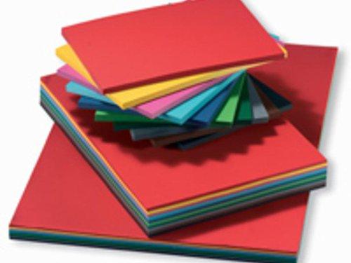 Tonpapier Sortiment klein: 17 Farben je 10 Blatt pro Farbe, Gr&#246