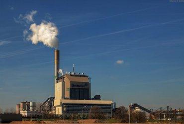 Schoorsteen energiecentrale