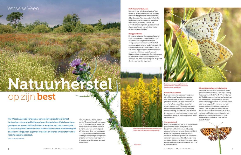 artikel Natuurherstel op zijn best, zomereditie Mooi Gelderland 2019