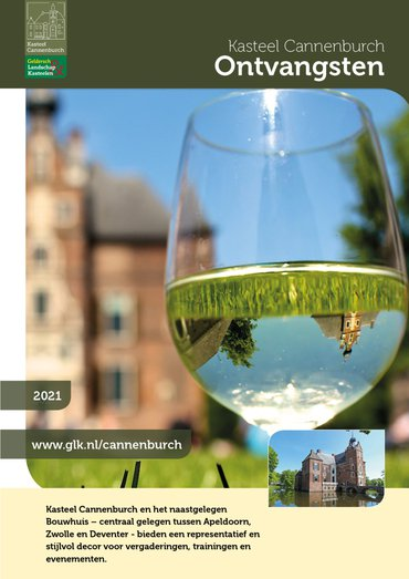 brochure Groepsontvangsten kasteel Cannenburch