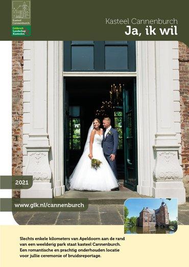brochure Trouwen op kasteel Cannenburch