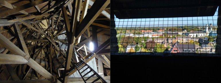 Zoldertellingen bieden naast het vinden van vleermuizen ook een blik op bijzondere bouwkunde en vergezichten