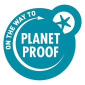Logo 'On the way to PlanetProof' keurmerk