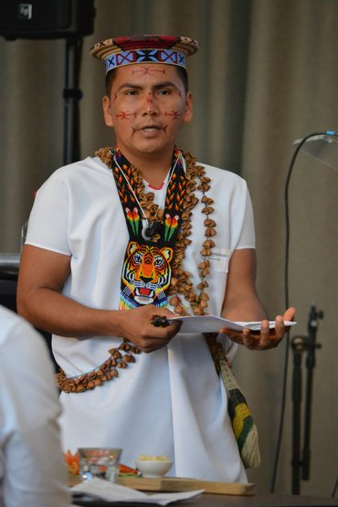 Hernán Payaguaje, an indigenous leader from the Amazon in Ecuador, tells his story