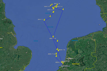 Routeplanning expeditie Doggersbank 2019