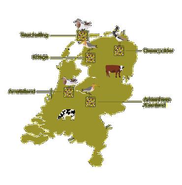 Boeren in vijf kerngebieden doen mee met het project