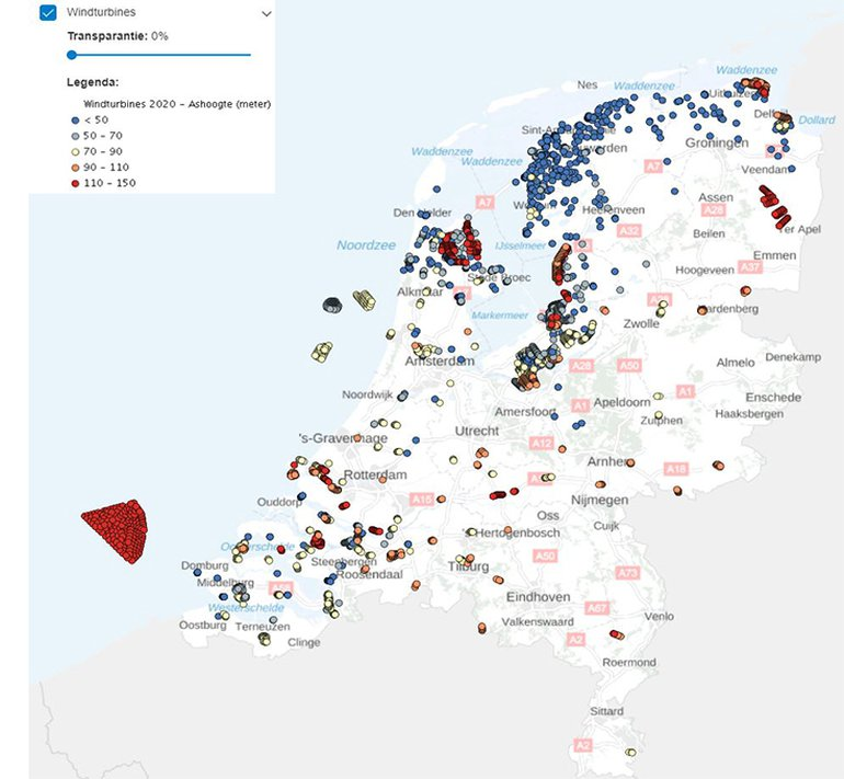 Windturbines in Nederland