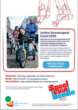 Flyer Online Samenspeel Event