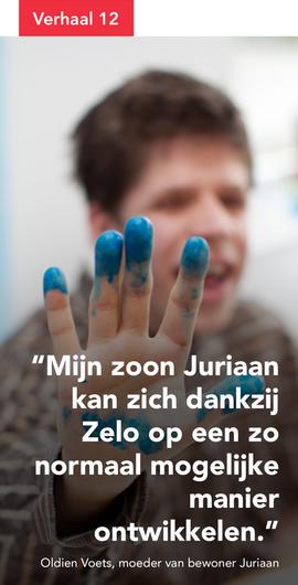 Mijn zoon Juriaan kan zich dankzij Zelo op een zo normaal mogelijke manier ontwikkelen.