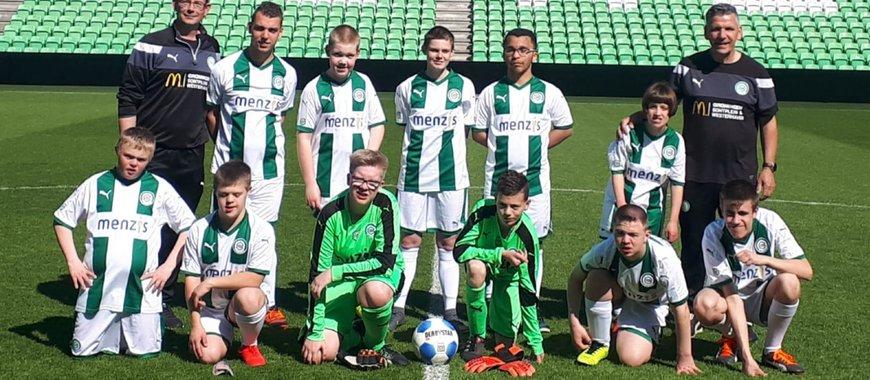 De spelers van Kids United gaan in de Bijzondere Eredivisie uitkomen voor FC Groningen