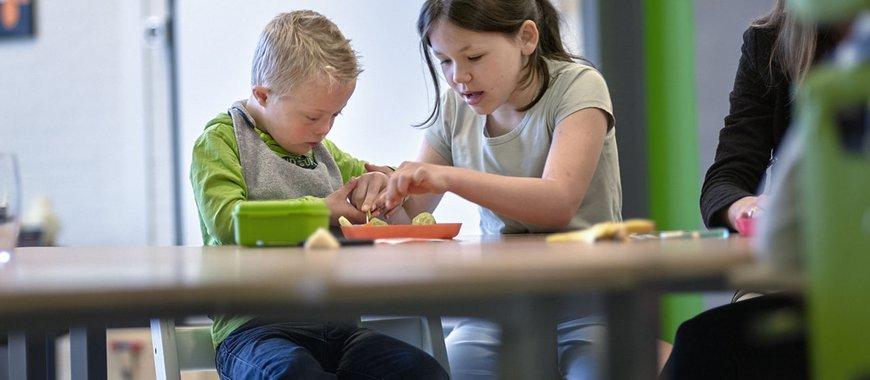 Kinderen met en zonder handicap samen naar school