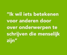 Quote van Aranka van Lindert, stagiaire NSGK in groen kader