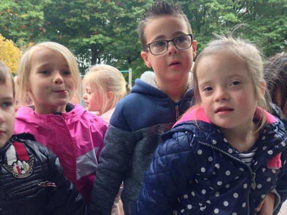 Vier kinderen op één foto