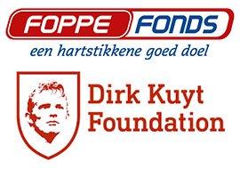 Logo's Foppe Fonds en Dirk Kuyt Foundation