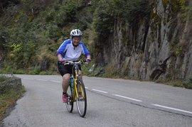Durkje fietst de Marmotte