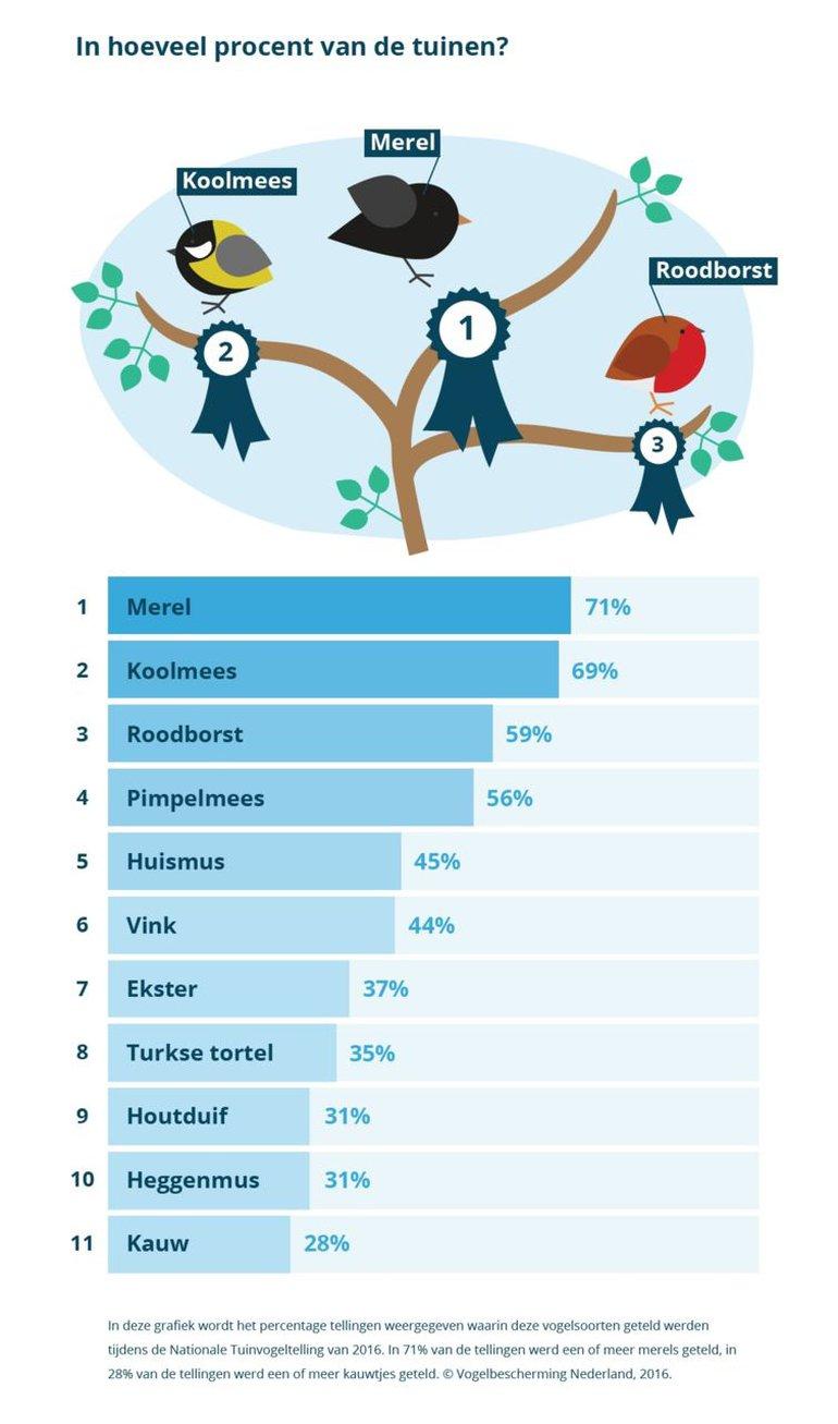 In hoeveel procent van de tuinen wordt de top-10 gezien? Oftewel, de top-10 op een andere manier weergegeven