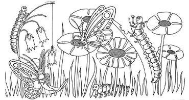 Kleurplaten Vlinders En Rupsen.De Vlinderstichting Kleurplaten En Maskers